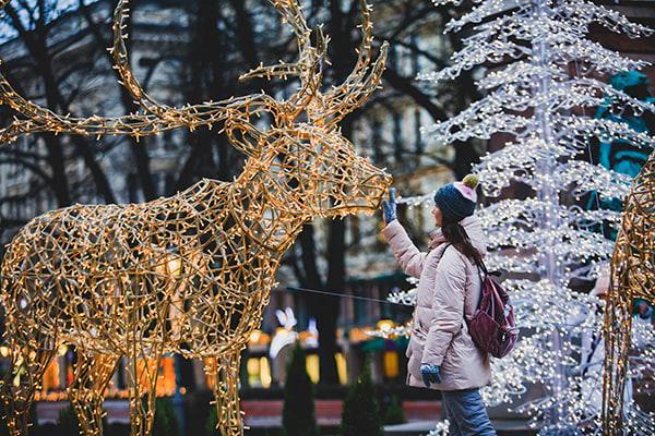 Décoration de Noël à Helsinki en Finlande