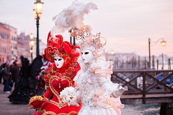 Participants du carnaval de Venise