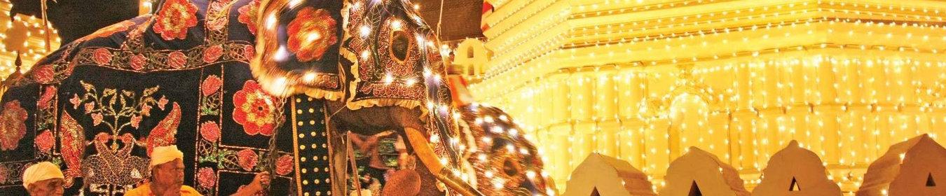 Fête traditionnelle de Perahera au Sri Lanka