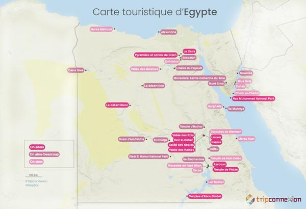 Carte touristique Egypte
