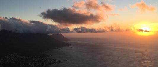 Coucher de soleil sur l'Afrique du Sud