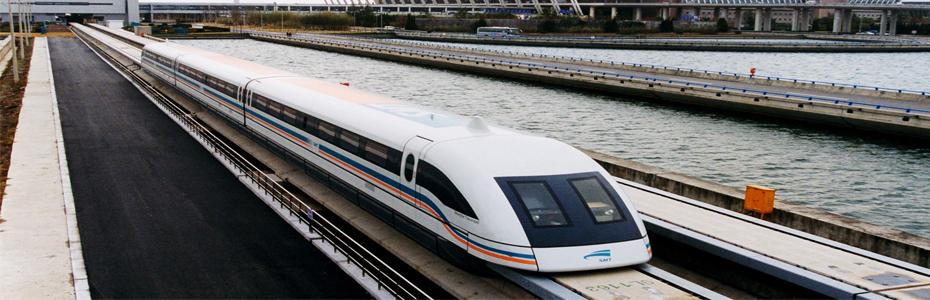Le maglev, train à grande vitesse