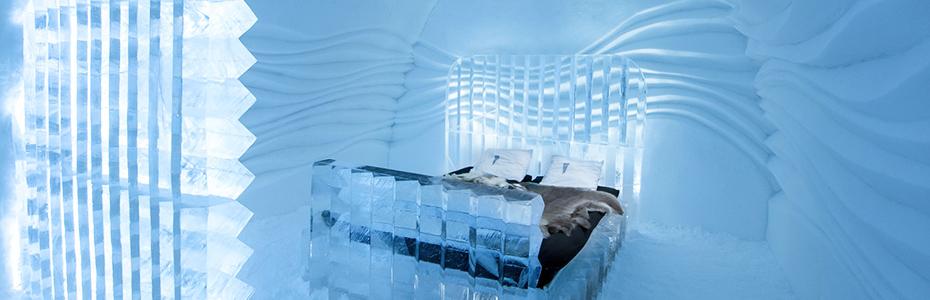 Parmi les logements les plus insolites en Europe, un hôtel en glace en Suède