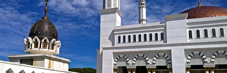 L'île de Sumatra compte de nombreuses mosquées importantes