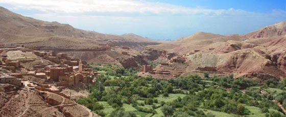 La vallée de l'Ounila, l'une des plus belles vallées du sur marocain.