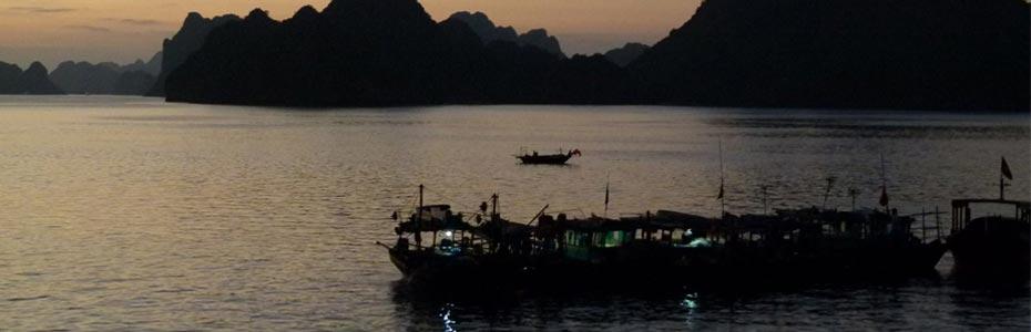 Coucher de soleil au Vietnam