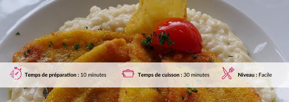 Recette de risotto aux filets de perches