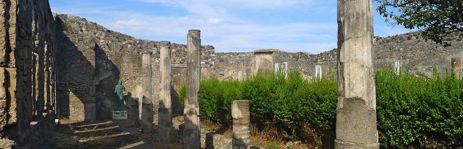 La ville de Pompéi en Campanie.