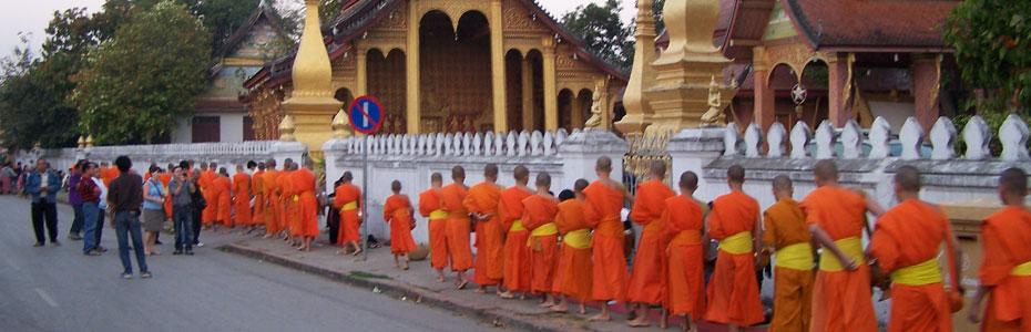 Les moines à Luang Prabang.