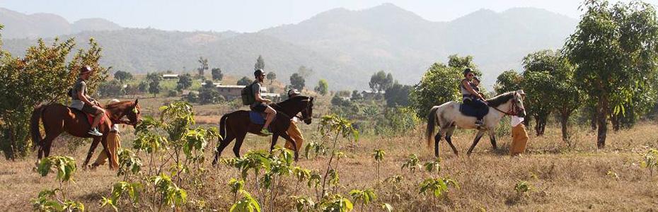 Les balades à cheval sont un bon moyen de découvrir le Myanmar en famille.