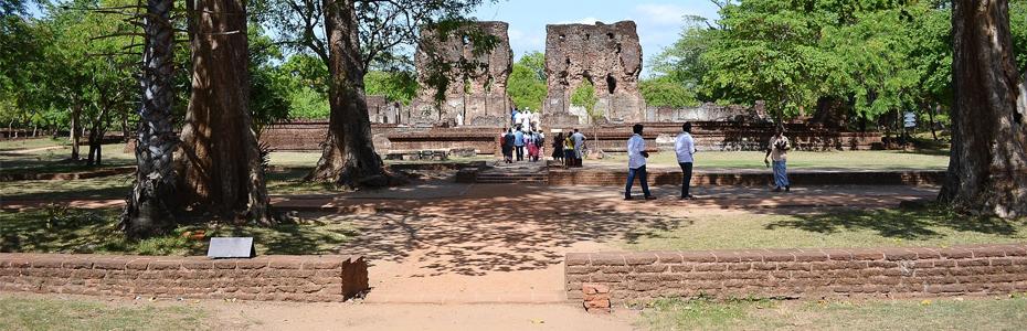 Site de Polonnaruwa au Sri Lanka.