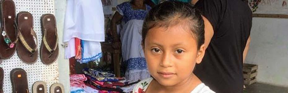 Jeune habitante de Valladolid au Mexique.
