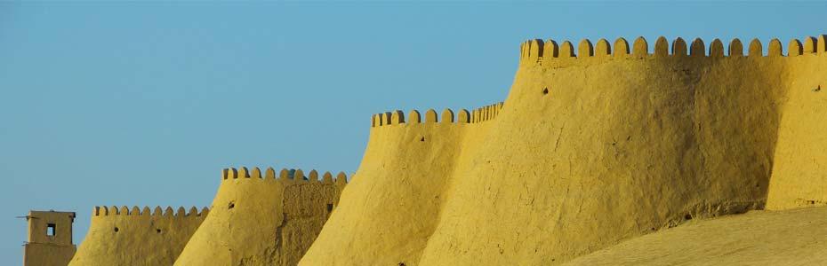 Khiva, ville du triangle d'or de l'Ouzbékistan