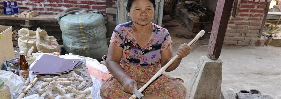 lîle de Bilu connue pour son artisanat en Birmanie